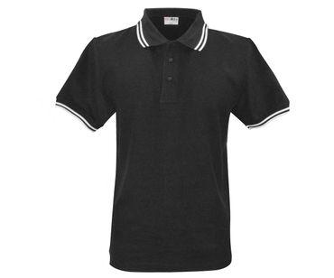Activ Wear Männer Polo-Shirt schwarz - weiß Größe S - XXL