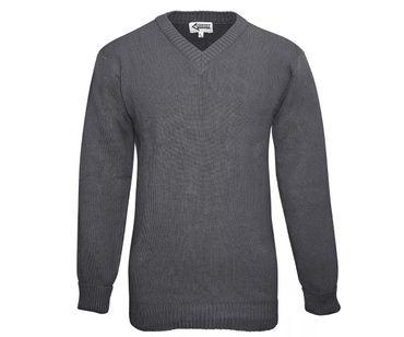 BW Dienst Pullover Wolle grau