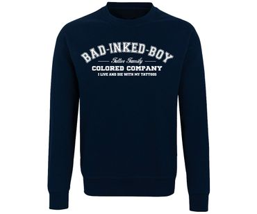 Bad inked boy Tattoo Family Männer Pullover – Bild 1