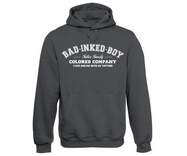 Bad inked boy Tattoo Family Männer Kapuzenpullover  – Bild 3