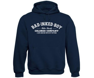 Bad inked boy Tattoo Family Männer Kapuzenpullover  – Bild 2