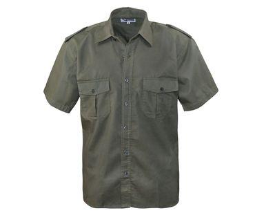 Piloten Hemd kurzarm oliv