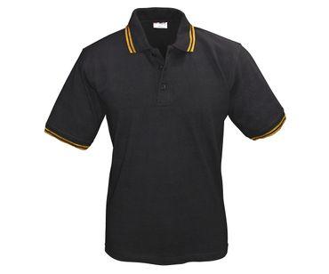 Activ Wear Männer Polo-Shirt schwarz - gold Größe S - XXL