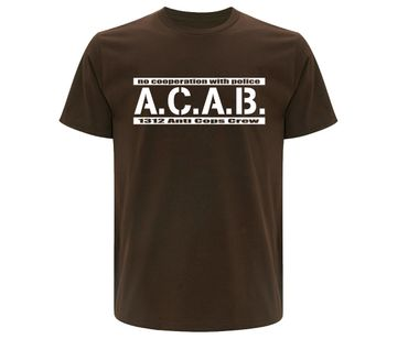 ACAB No cooperation with Police Männer T-Shirt  – Bild 1