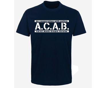 ACAB No cooperation with Police Männer T-Shirt  – Bild 3