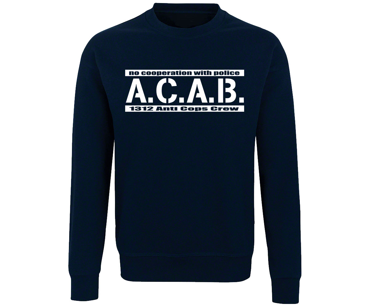ACAB No cooperation with Police Männer Pullover – Bild 3