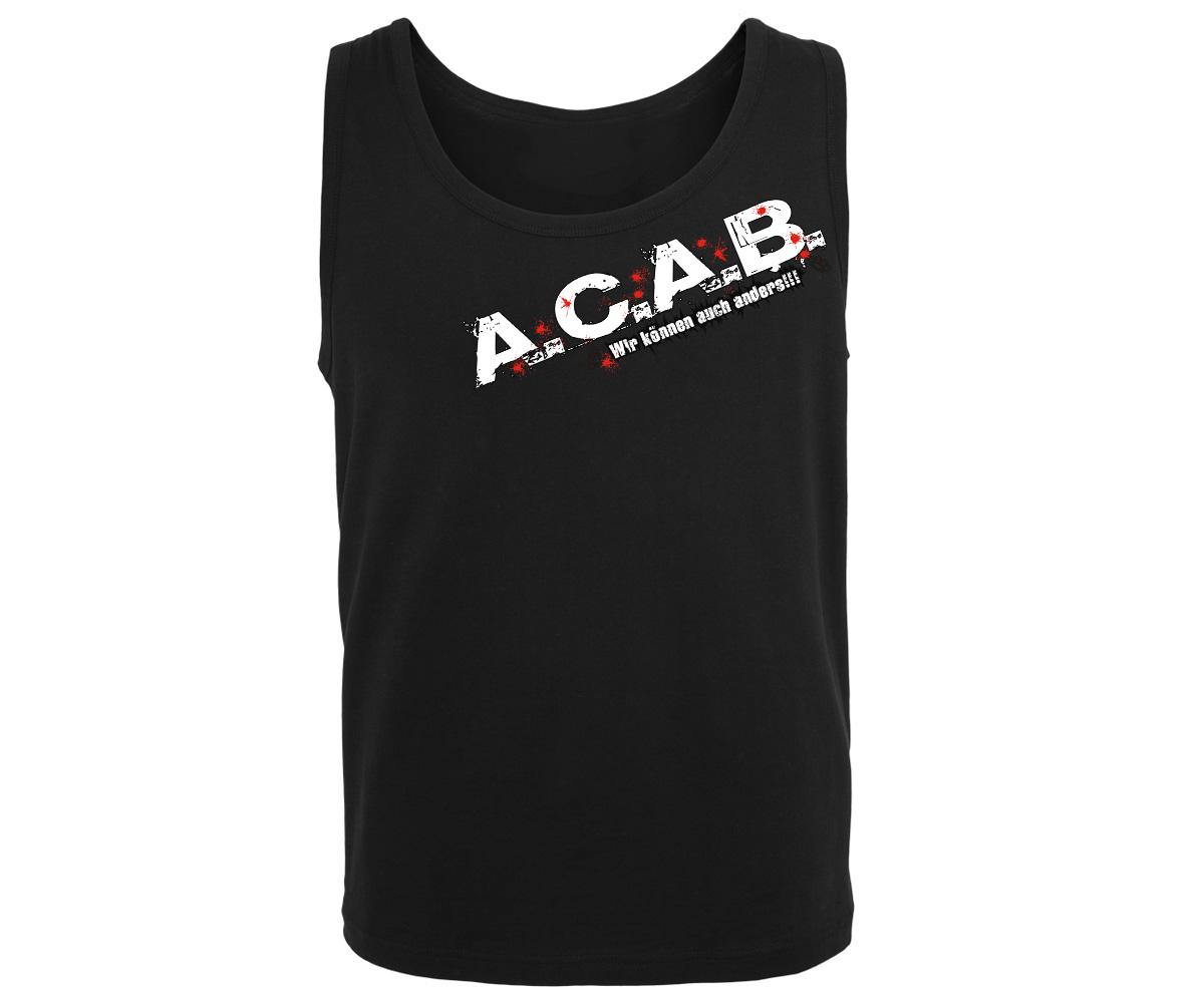 ACAB Männer Muskelshirt Wir können auch anders – Bild 1