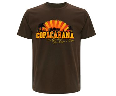 Copacabana Männer T-Shirt No go Area for Dogs and Cops – Bild 1