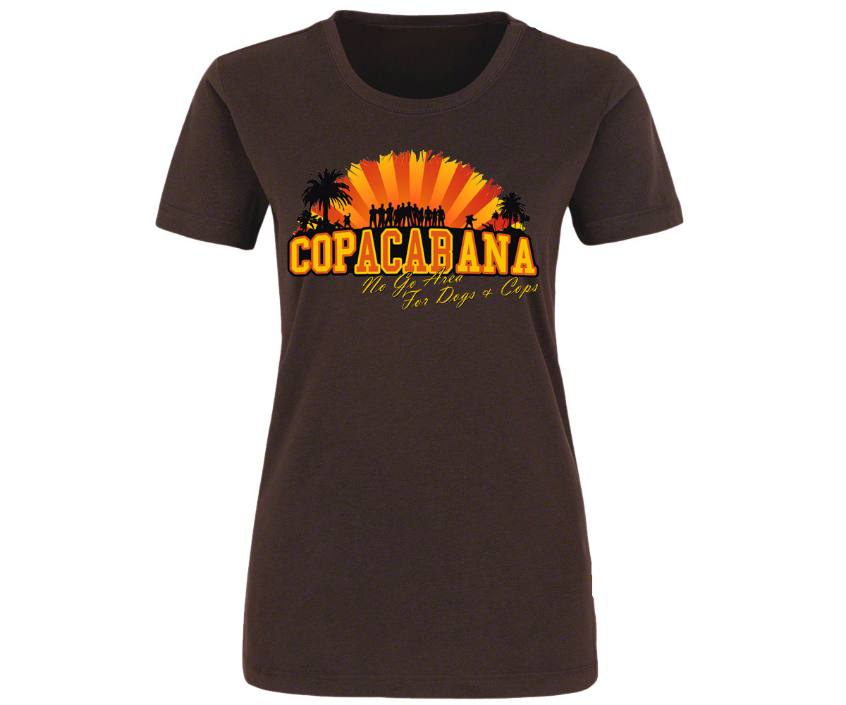 Copacabana Frauen Shirt No go Area for Dogs and Cops – Bild 4
