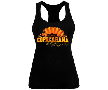 Copacabana Frauen Tank Top No go Area for Dogs and Cops – Bild 3