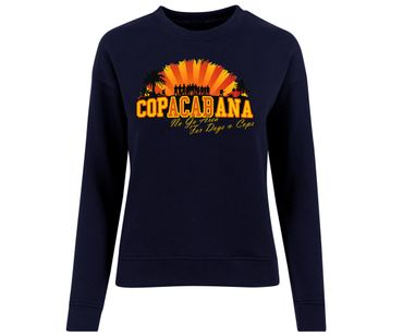 Copacabana Frauen Pullover No go Area for Dogs and Cops