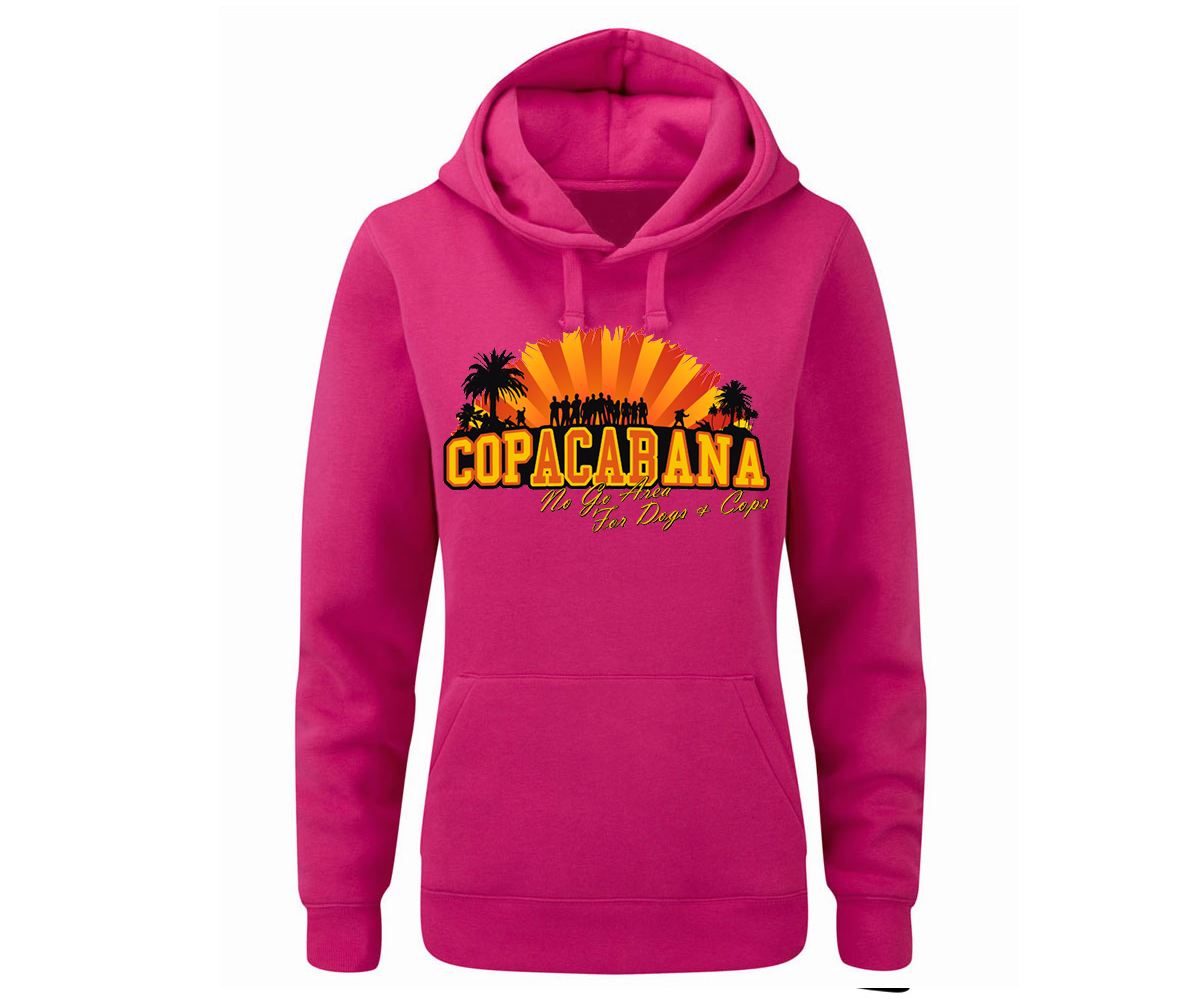 Copacabana Frauen Kapuzenpullover No go Area for Dogs and Cops – Bild 1