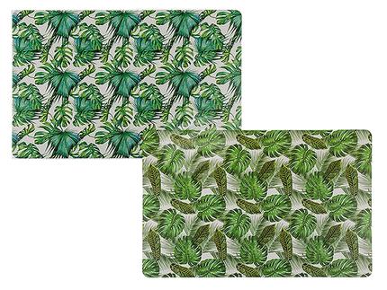 145237 Polypropylen-Tischset, Blätter, ca. 44 x 28,5 cm, 2-fach sortiert, 12 Stück im Polybeutel, 3600/PAL