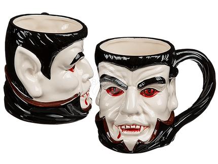 98-1997 Steingut-Becher, Vampir, ca. 15 x 11,5 cm, 360/PAL
