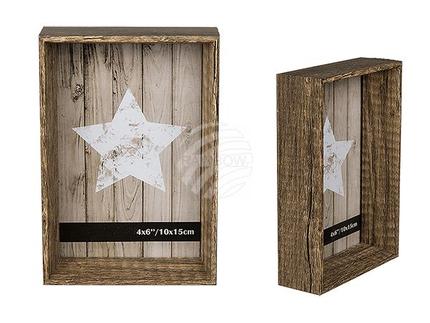 94-2590 Holz-Bilderrahmen, Pure Style, 10 x 15 cm, 1152/PAL