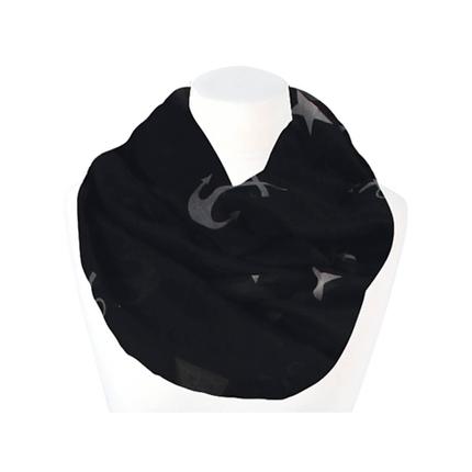 SCH-1432c Damen Loop Schal Maritim schwarz weiß