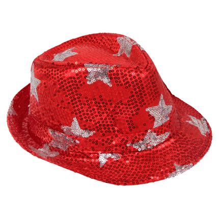 TH-85 Trilby Hut mit Sternen rot