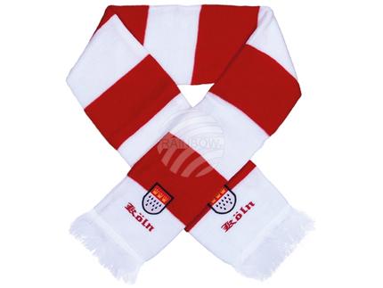 FS-86 Schals Fanschals rot weiß gestreift Schriftzug Köln Wappen