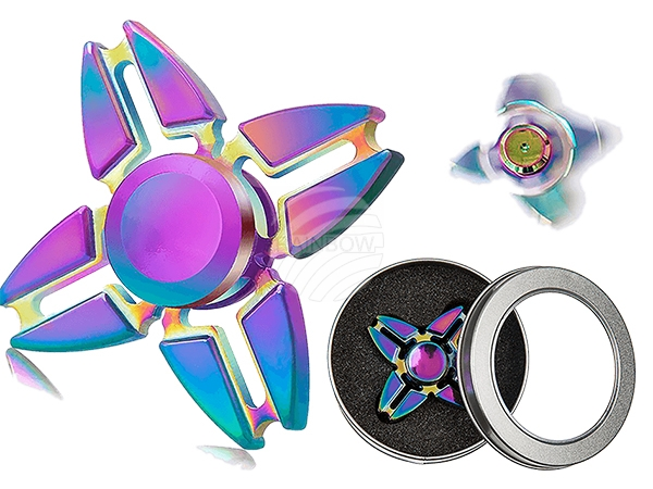 61-6626 Metall-Crazy Gyro Spinner Rainbow II, ca. 6 cm