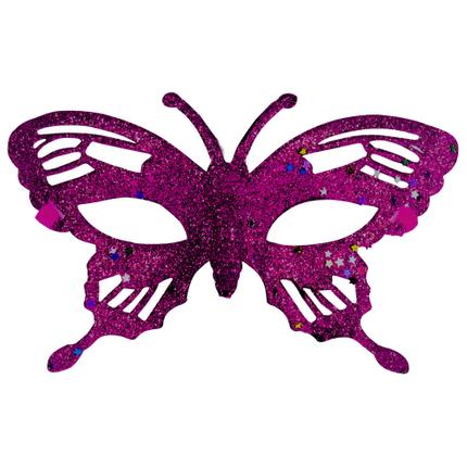 MAS-mix16 Maske Masken Karneval Fasching Schmetterling fuchsia