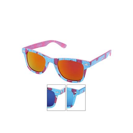 V-1418 Retro Vintage Nerd Blues VIPER Damen und Herren Sonnenbrille Eis am Stiel matt hellblau rosa