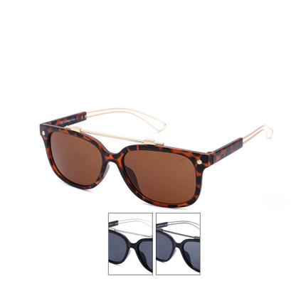 V-1421 Classic Design VIPER Damen und Herren Sonnenbrille Leopardenmuster mehrfarbig