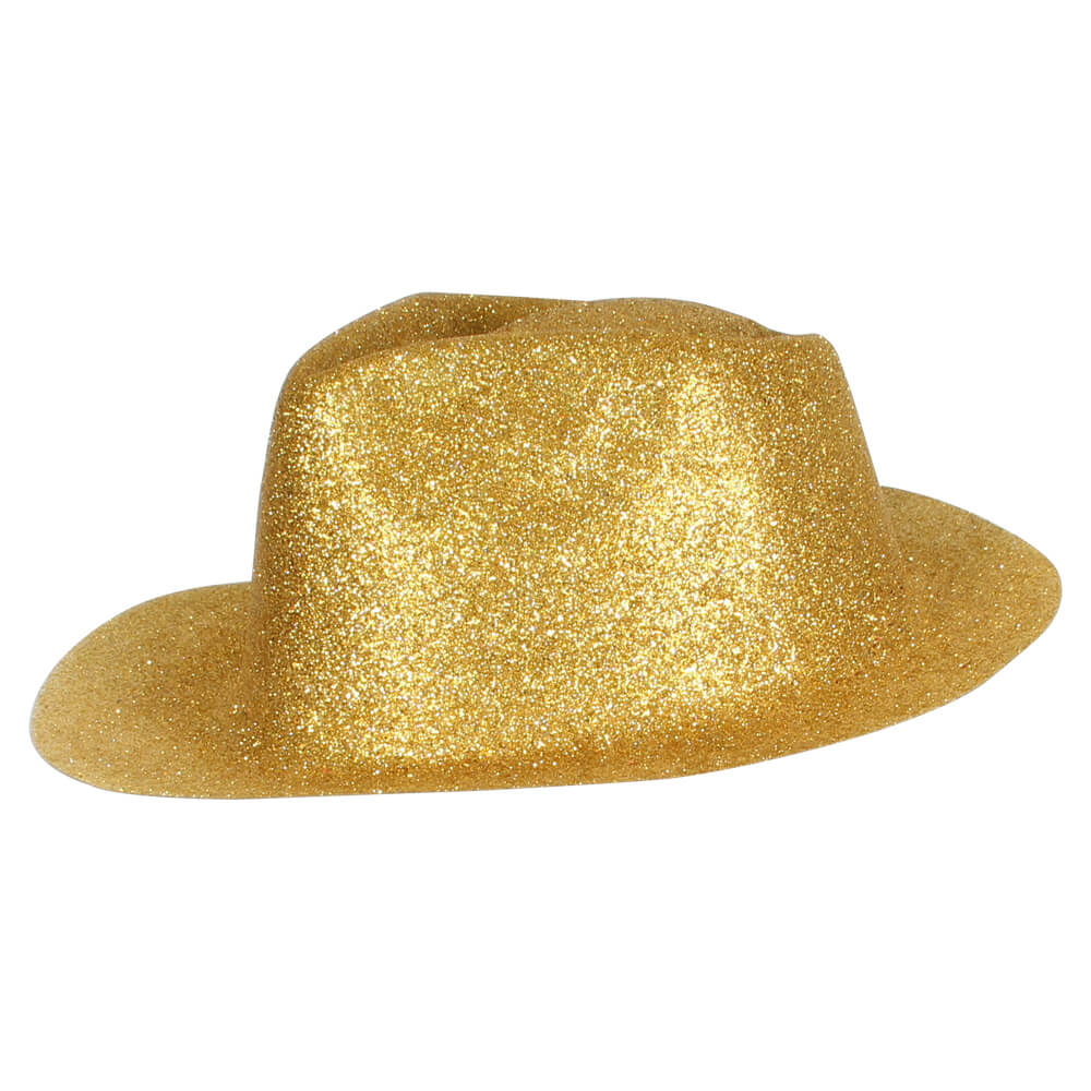 TH-92 Trilby Hüte gold Hut glitzert
