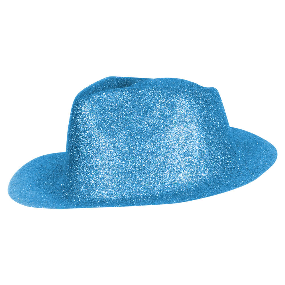 TH-96 Trilby Hüte himmel blau Hut glitzert