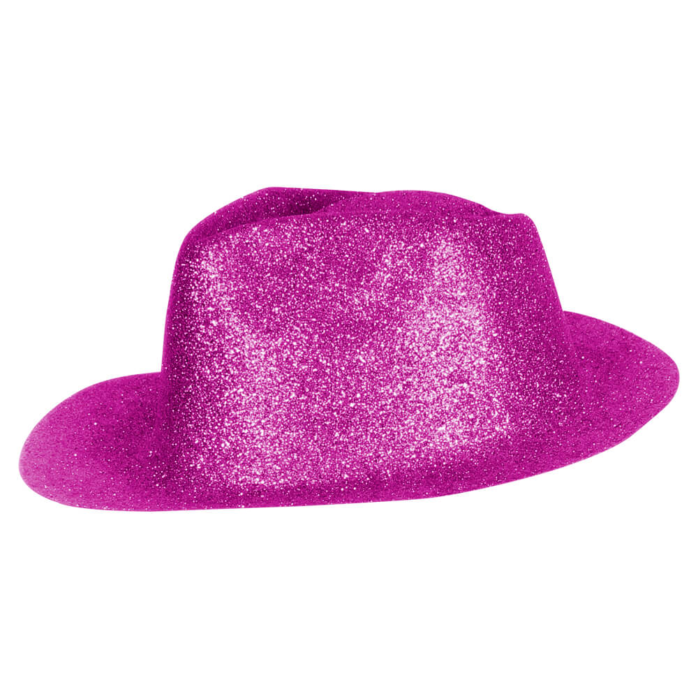 TH-97 Trilby Hüte fuchsia Hut glitzert