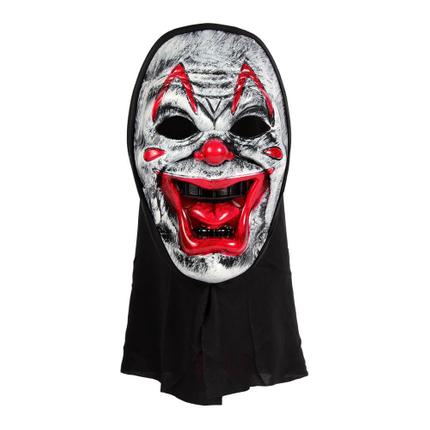 MAS-42 Karnevalsmaske weiss Clown ca. 23 cm
