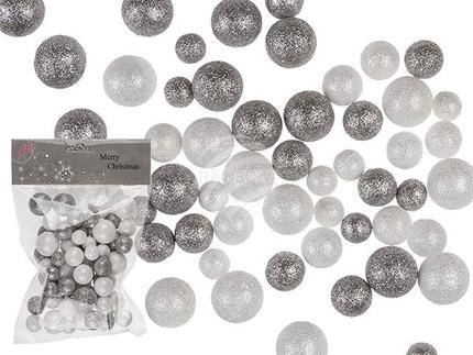 960326 Kunststoff-Bälle mit Glitter, 3 Größen & 2-farbig sortiert, im Polybeutel mit Headercard, 1152/PAL