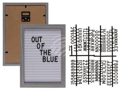 94-2610 Holzrahmen mit Textilsteckfeld für Buchstaben & Zahlen, ca. 22 x 16 cm, inkl. 145 Buchstaben & Zahlen