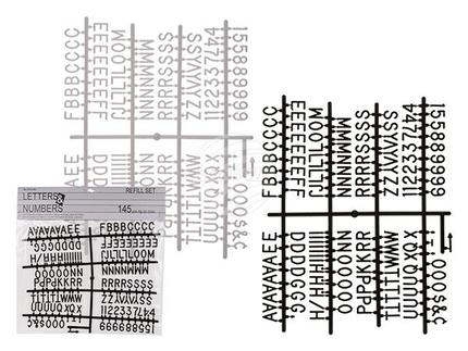 94-2618 Nachfüllset Buchstaben & Zahlen für Buchstabentafeln, 2-farbig sortiert, 145-teilig, im Polybeutel mit Headerkarte