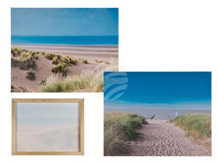 810275 Bild, Düne, Leinen auf Holzrahmen, ca. 40 x 50 cm, 2-fach sortiert, 256/PAL