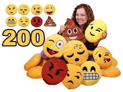 KI-MIX3 Zufällige Sortierung aus 200 Stück Emoticon Emotikon Kissen