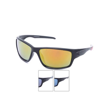 VS-348 VIPER Damen und Herren Sportbrille Sonnenbrille farbige Applikationen am Rahmen schwarz