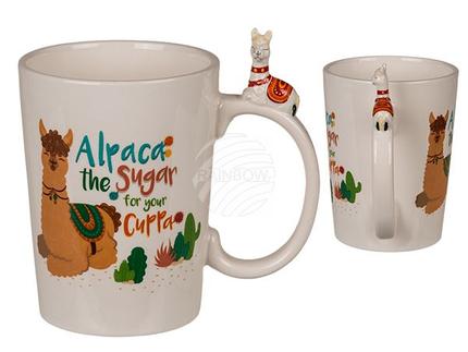 78-8295 Keramik-Becher mit Lama-Griff, Alpaca - the sugar for your cuppa, ca. 11 x 9 cm, 480/PAL