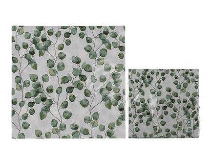 145248 Papier-Servietten, Blattranken, ca. 33 x 33 cm, 3-lagig, 20 Stück im Polybeutel
