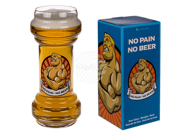 78-7938 Bierglas, No Pain - No Beer, für ca. 830 ml, H: ca.  22 cm