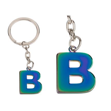 24-1118 Metall-Schlüsselanhänger, Rainbow Letter, Buchstabe B, 5760/PAL