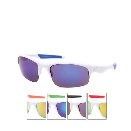 VS-338 VIPER Damen und Herren Sportbrille Sonnenbrille Aufdruck Viper weiss mit farbigen Applikationen