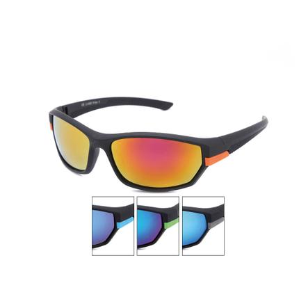 VS-346 Sportbrille VIPER Damen und Herren Sonnenbrille farbige Applikationen am Rahmen schwarz