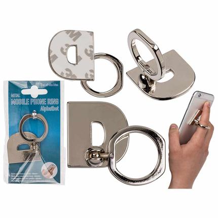 24-1214 Metall-Fingerhalterung fürs Handy, Buchstabe D, zum Ankleben, 14208/PAL