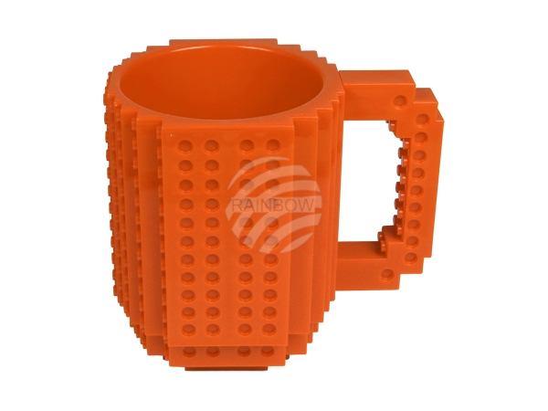CUP-07 Baustein Tasse orange