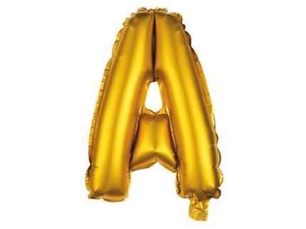 BAL-170  Folienballon Helium Ballon gold Buchstabe A ca. 80 cm