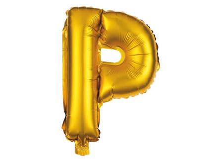 BAL-185  Folienballon Helium Ballon gold Buchstabe P ca. 80 cm