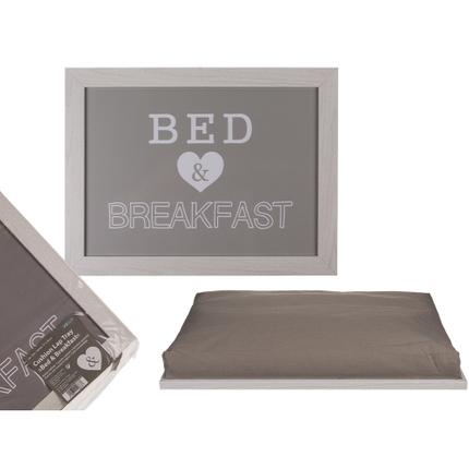 144277 Kissen-Tablett, Bed & Breakfast, ca. 41 x 28 cm,, 108/PAL