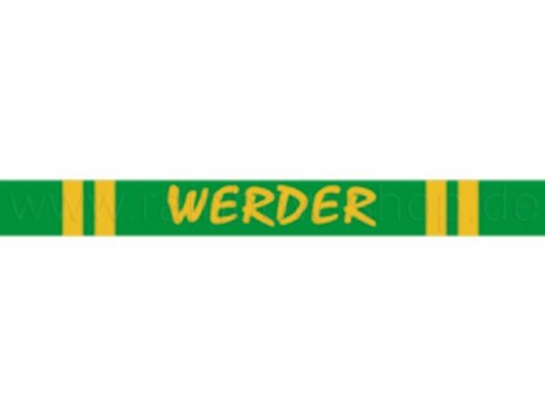 A-s04 Silikon Armband Werder Bremen Fußball ca. 6 cm Durchmesser 12 Stück
