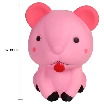 SQ-229 Squishy Squeeze Maus rosa ca. 13 cm