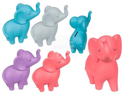78-4146 Keramik-Spardose, Elefant, ca. 18 cm, 4-farbig sortiert, 288/PAL